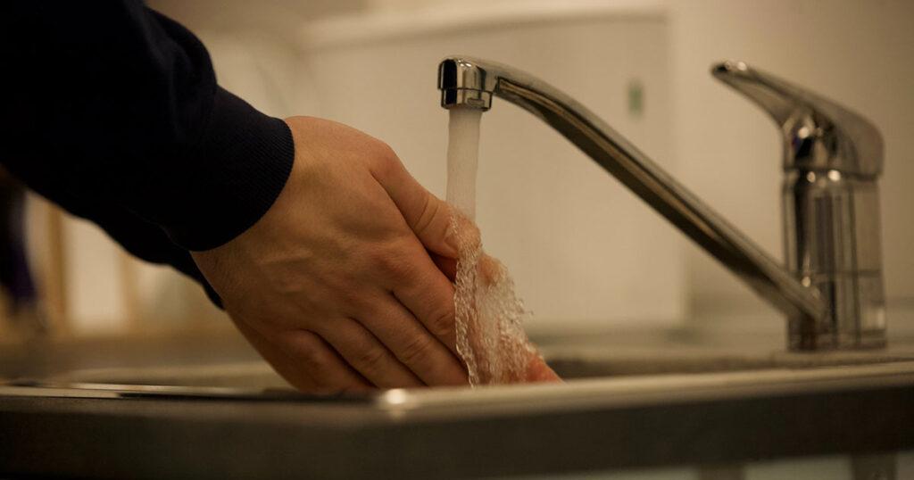 pressão da água